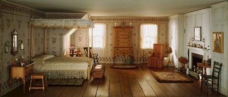 Một phòng ngủ hồi thập niên 1750