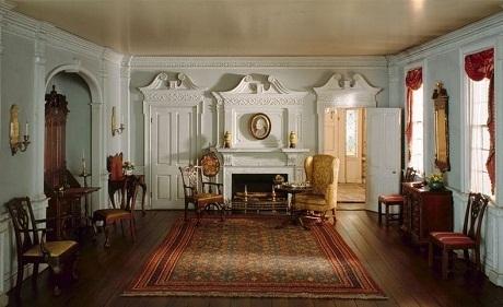 Một phòng khách ở bang Rhode Island những năm 1820
