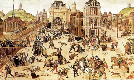 Bức Thảm sát ngày lễ thánh Barthelemy của François Dubois (thế kỷ 19).