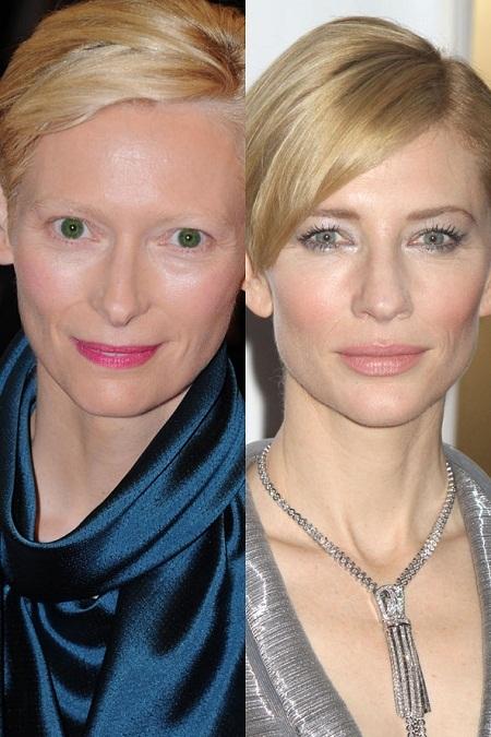 Hai nữ diễn viên Jennifer Garner và Hilary Swank cùng sở hữu làn da nâu khỏe khoắn.