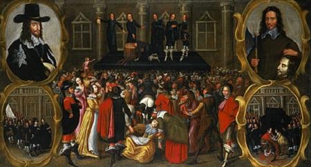 Bức tranh vẽ buổi hành hình của vua Charles I (năm 1649)của họa sĩ John Weesop
