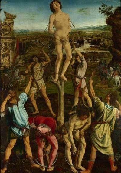"""Bức """"Saint Sebastian"""" (Thánh Sebastian) vẽ năm 1623, trưng bày tại Triển lãm Quốc gia, London, Anh."""