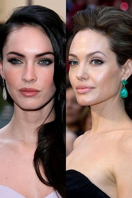 Megan Fox và Angelina Jolie cũng có nhiều nét giống nhau.