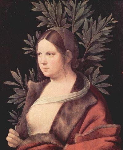 """Bức """"Laura"""" (Nàng Laura) vẽ năm 1506, trưng bày tại Bảo tàng Kunsthistorisches, Vienna, Áo."""
