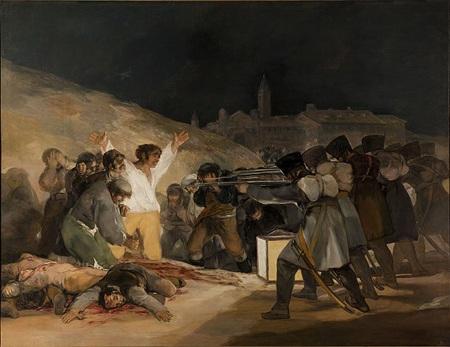 Bức tranh tựa đề Ngày 3 tháng 5 năm 1808 (1814) của họa sĩ Francisco Goya