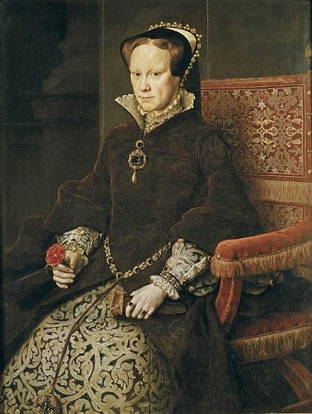 Tranh chân dung của nữ hoàng Mary I vẽ năm 1554