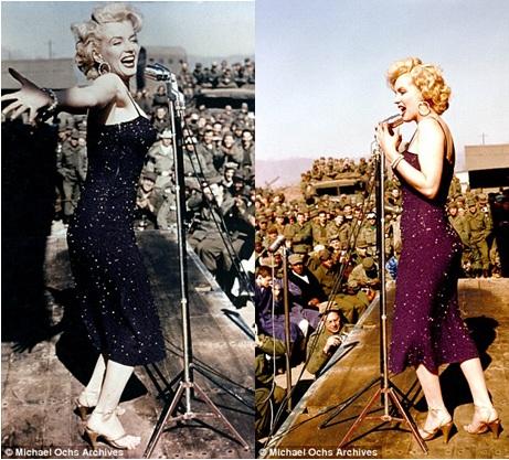 Monroe từng đến Hàn Quốc biểu diễn trong doanh trại quân Mỹ