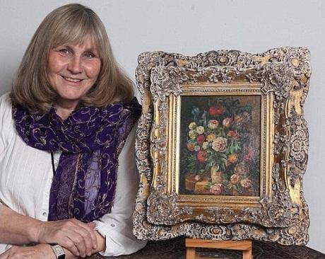 Liz Lockyer chỉ phải trả một số tiền rất nhỏ cho bức tranh quý.
