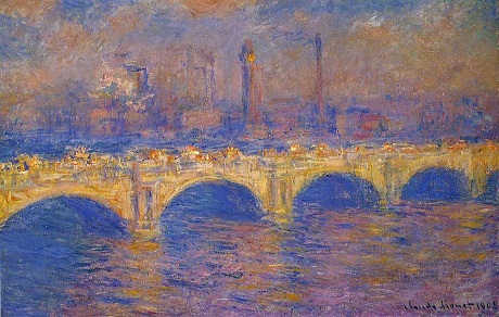 Bức Waterloo Bridge (Cầu Waterloo) của Claude Monet