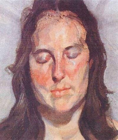 Bức Woman with Eyes Closed (Người phụ nữ nhắm mắt) của danh họa người Đức Lucian Freud