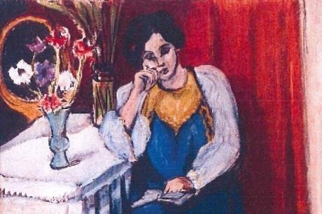 """Bức """"La Liseuse en Blanc et Jaune"""" (Cô gái ngồi đọc sách) của danh họa người Pháp Henri Matisse"""
