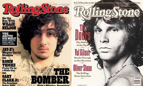 Tạp chí âm nhạc của Mỹ đưa kẻ đánh bom Boston lên làm hình bìa