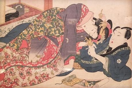 "Tác phẩm ""Cuộn giấy da"" của họa sĩ Keisai Eisen."