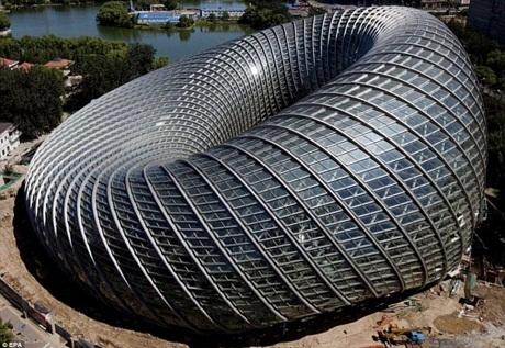 Trung tâm Truyền thông Quốc tế Phượng Hoàng mới xây ở thành phố Bắc Kinh.
