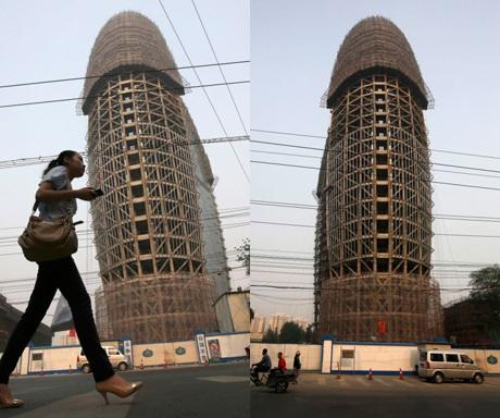 Tòa nhà bị châm biếm nhiều nhất là trụ sở của tờ Nhân dân Nhật báo đặt tại Bắc Kinh.