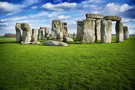 Hình chụp bãi đá cổ Stonehenge ở Anh