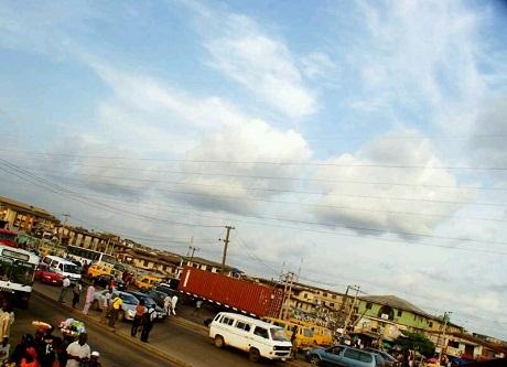 Quang cảnh đường phố Nigeria.