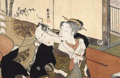 "Tác phẩm ""Tẩu thuốc"" của họa sĩ Suzuki Harunobu (1724-1770)."