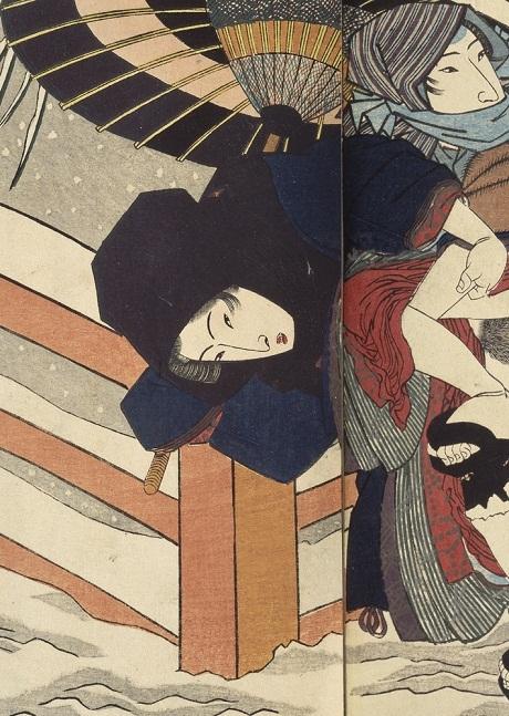 """Tác phẩm """"Khúc ca bốn mùa"""" của họa sĩ Utagawa Kunisada (1786-1864)."""