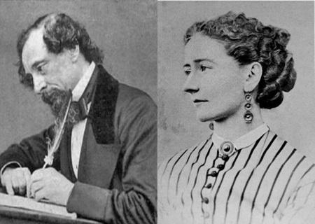 Chân dung nhà văn Charles Dickens và người tình trẻ tuổi Nelly Ternan.