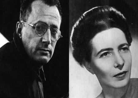 Chân dung nhà văn Simone de Beauvoir và Nelson Algren