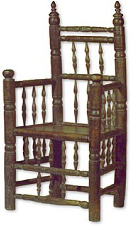 Chiếc ghế Brewster giả được làm bởi nghệ sĩ LaMongtagne.