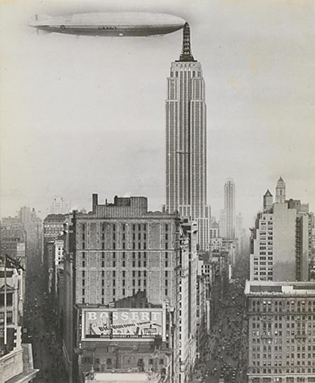 Tòa nhà Empire State ở thành phố New York còn có thể là nơi neo đậu cho khí cầu.