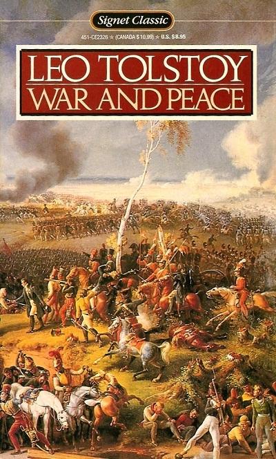 """Đứng thứ hai là cuốn """"War and Peace"""" (Chiến tranh và hòa bình) của Leo Tolstoy."""