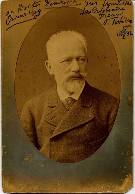 Một bức ảnh có bút tích của Tchaikovsky