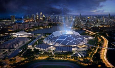 Cung thể thao Singapore giành được giải thưởng ở Liên hoan Kiến trúc thế giới (WAF)