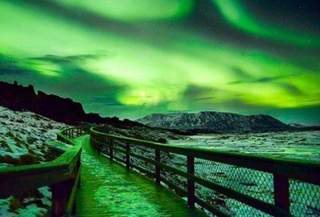 Bắc Cực Quang ở bang South Dakota, Mỹ.