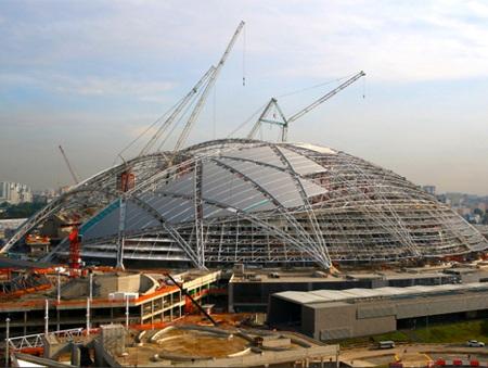 Hình ảnh công trình đang trong quá trình thi công hồi tháng 8.
