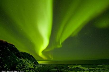 Bắc Cực Quang ở bang Alaska, Mỹ.