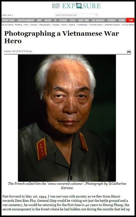 Dưới bài viết khắc họa chân dung Đại tướng Võ Nguyên Giáp được đăng tải trên tờ