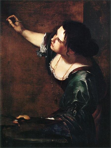 Tranh tự họa của Artemisia Gentileschi vẽ trong những năm 1630.