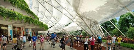 Cung thể thao sẽ bao gồm sân vận động với 55 nghìn chỗ ngồi.