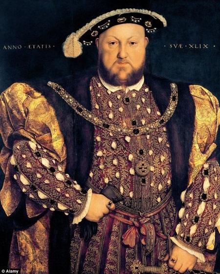 Một bức tranh chân dung sơn dầu của nhà vua Henry VIII (1491-1547) ở tuổi 49.