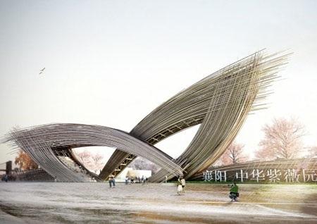 Công trình Cánh cổng hoa sẽ được đặt tại công viên thành phố Tương Dương, tỉnh Hồ Bắc.
