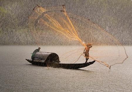 """""""Bắt cá dưới mưa"""" - Tác giả Ngô Thanh Bình (Việt Nam) - Huy chương Vàng VAPA"""