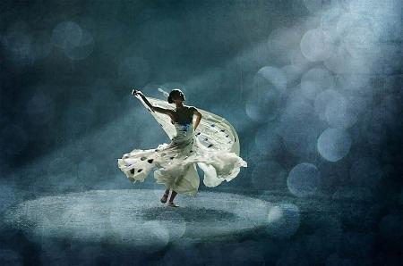 """""""Peacock Dance 1"""" (Điệu múa chim công 1) - Tác giả Manfred Kluger (Đức) - Huy chương Bạc FIAP"""