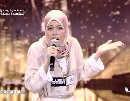 Cô gái hát rap gây sốt tại cuộc thi Tìm kiếm Tài năng Ả Rập