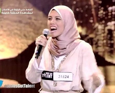Mayam Mahmoud là điểm nhấn đặc biệt của chương trình Tìm kiếm tài năng Ả Rập năm nay.