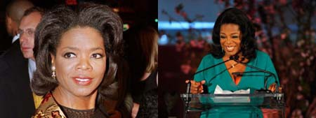 Hoa hậu Ophah Winfrey trở thành biểu tượng và là niềm tự hào của những người Mỹ gốc Phi.