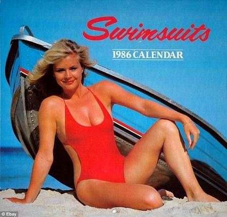 Một cuốn lịch năm 1986 với chủ điểm là những bộ đồ bơi.