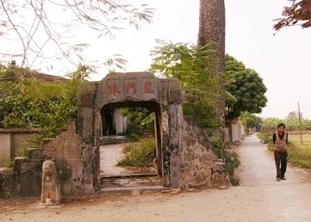 Một góc thôn Long Châu, xã Phụng Châu, Chương Mỹ, Hà Nội
