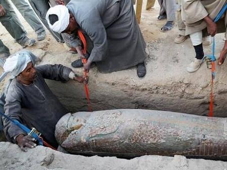 Xác ướp có niên đại từ năm 1.600 trước Công nguyên được tìm thấy tại thành phố cổ Luxor của Ai Cập.
