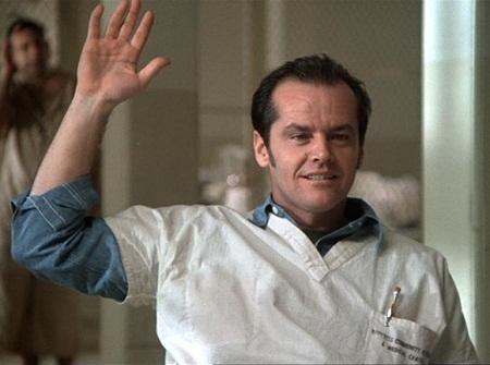 Jack Nicholson vào vai McMurphy