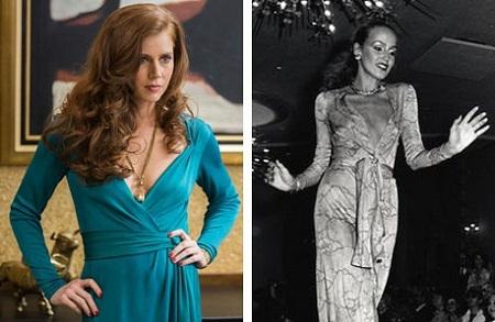 Chiếc váy quấn mà nữ diễn viên Amy Adams mặc là một mẫu váy rất nổi tiếng hồi thập niên 1970.