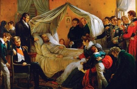 Hoàng đế Napoleon qua đời tại căn phòng nhỏ hẹp và ẩm uớt ở Loongwood, đảo St. Helena.