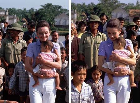 Minh tinh điện ảnh Audrey Hepburn đã đến Việt Nam và mặc thổ cẩm